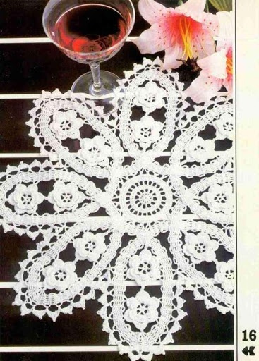 Bruges crochet tapes with Irish crochet flowers