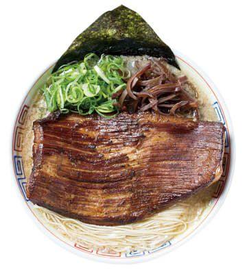 福岡の「濃厚博多トンコツ炙り豚トロ肉盛りラーメン」