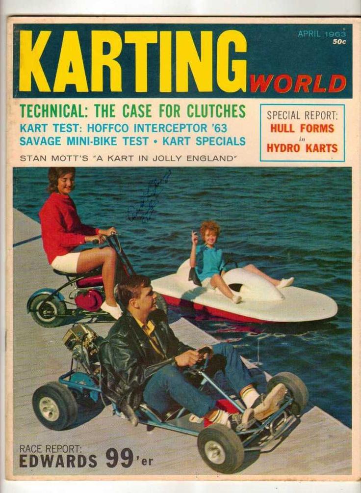 Karting World April 1963 Kart Racing Magazine Old Vintage Savage Mini-Bike Hydro
