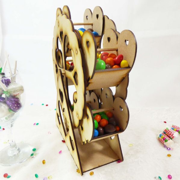 Self-Assembly Rotating Mini Ferris Wheel Sweet Table Decoration