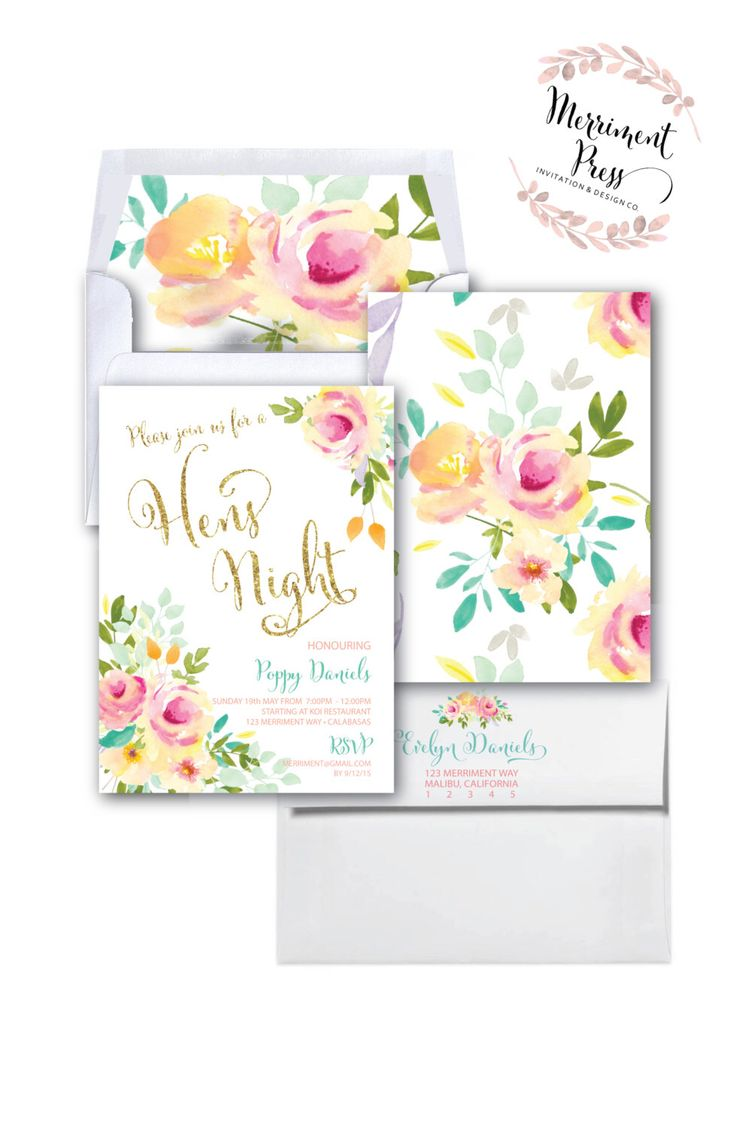 The 16 best INVITATIONS//Hens and Bridal images on Pinterest | Hens ...