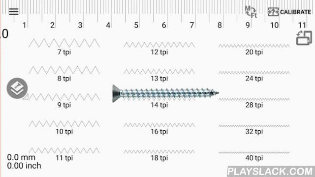 Thread Pitch Android App - playslack.com , Thread Pitch gauge is in the 1st set of the Smart Tools collection (screws, nuts, bolts, pipes).How did you gauge thread pitch of screws? With a paper or a ruler? From now on, you can search it easily with this app.Usage is simple: Open it and measure it on the screen. Don't worry. The width of your screen had been calibrated automatically. The caliper mode(multi-touch) is supported.* Supported size list- US thread sizes- Metric thread sizes- ...