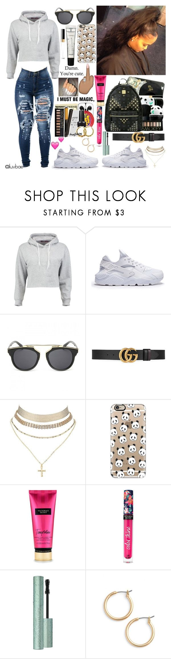 """""""Untitled #189"""" by luvbae ❤ liked on Polyvore featuring Boohoo, Gucci, Charlotte Russe, Casetify, Victoria's Secret, M.A.C, Nordstrom and Chanel"""