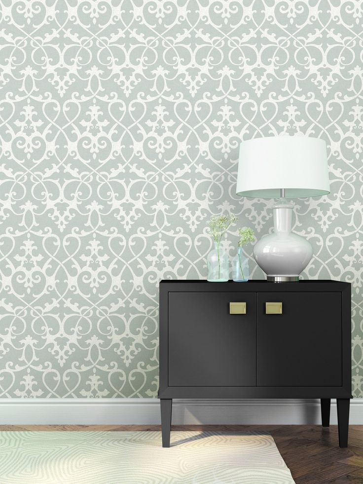 A Street Prints Axiom Grey Ironwork Wallpaper