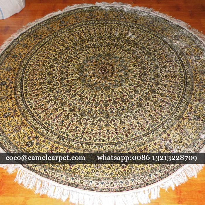 Chinese Round Area Handmade Silk Carpet On Sale Wholesale And