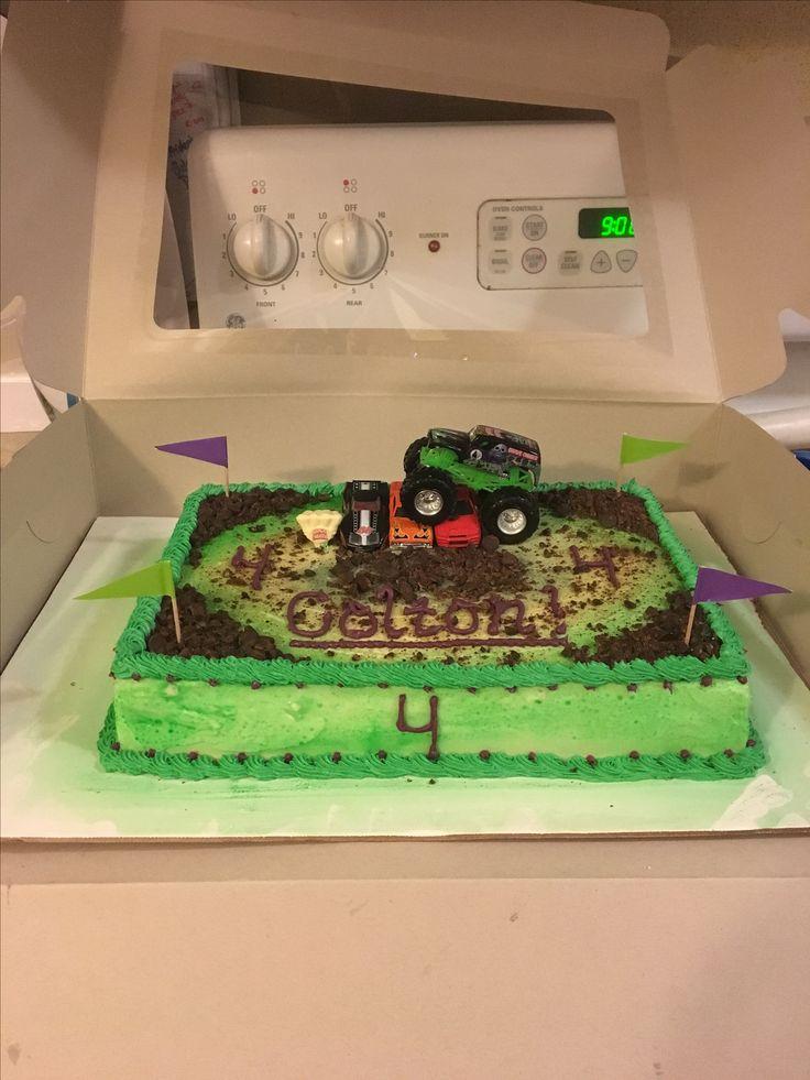 Monster jam- grave digger cake!  Monster jam birthday cake