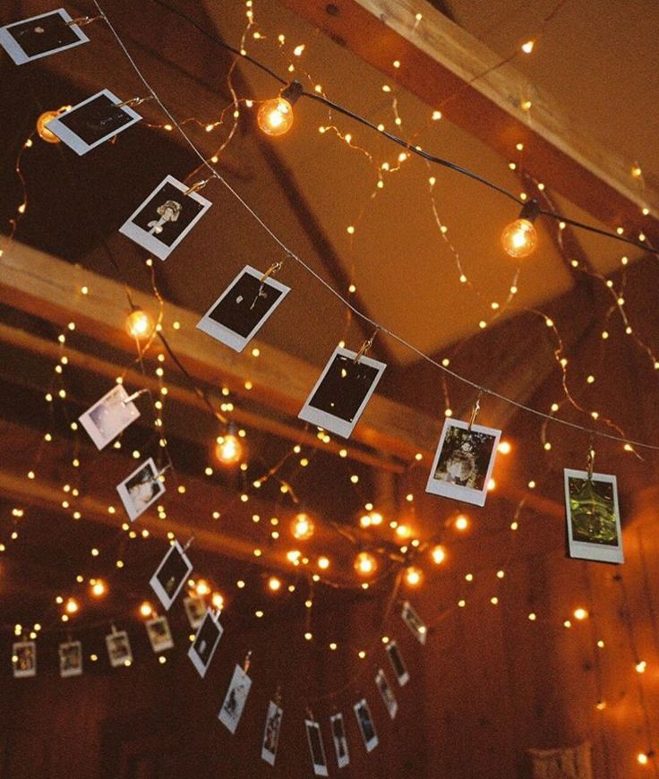 Hanging Polaroids