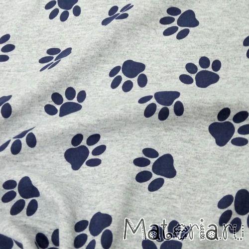 Кулирная гладь кошачьи лапки темно-синие