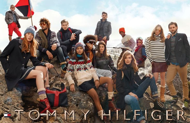 tommy hilfiger fall winter 2014 campaign1 The Tommy Hilfiger Family Goes to Lake Tahoe for Fall Ads