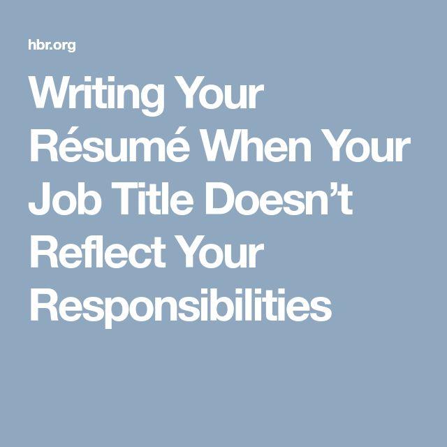 The 25+ best Job title ideas on Pinterest Treat people, Other - job title resume