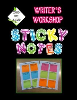 Writer's Workshop Using Sticky Notes!