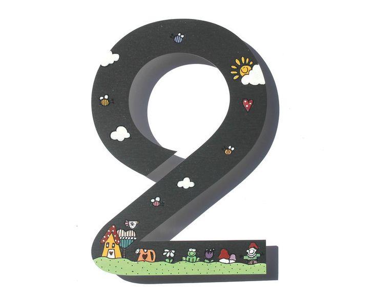 """Hausnummern -  Hausnummer Edelstahl 20cm """" Wundergarten"""" - ein Designerstück von DeinUnikat-byAnnoDomini bei DaWanda"""