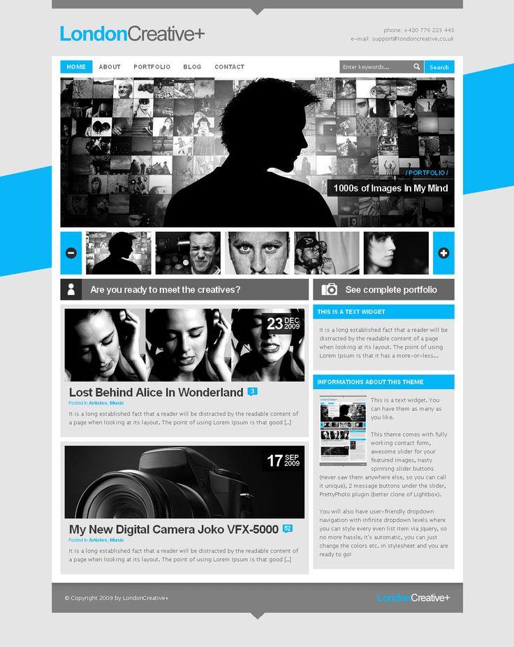 London Creative + (Portfolio & Blog WP Theme) http://themeforest.net/item/london-creative-portfolio-blog-wp-theme/70613?ref=wpaw #web #design #blog