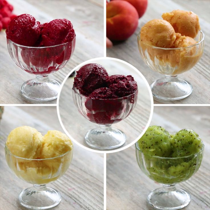 2-Ingredient Sorbet 5 Ways