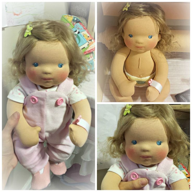 "Anjali a 14"" jointed cloth doll with sculpted face with added heart surgery scar."
