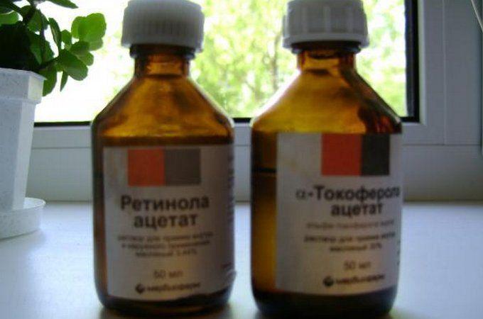 Витамины А (Ретинол) и Е (Раствор Токоферола ацетат) в масле — эффективное средство для роста и восстановления волос (фото волос до и после)! Достоинства: Уменьшают выпадение волос.