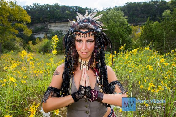CUSTOM MADE Native/Tribal Fusion Headdress by HPZWearableArt