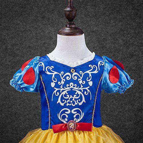 Ninimour Vestido de princesa Blancanieves Disfraces para Halloween Cosplay Costume para Niñas: Amazon.es: Ropa y accesorios