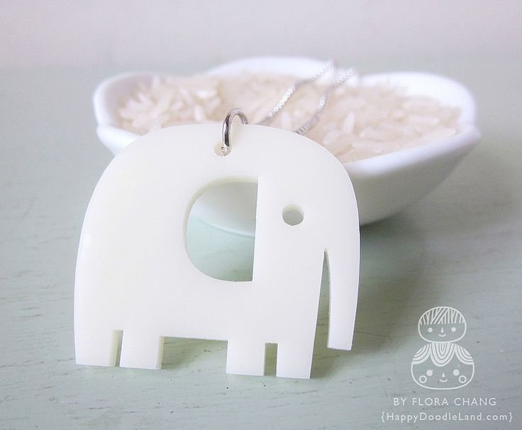 Elehpant Necklace | by Flora Chang | Happy Doodle Land