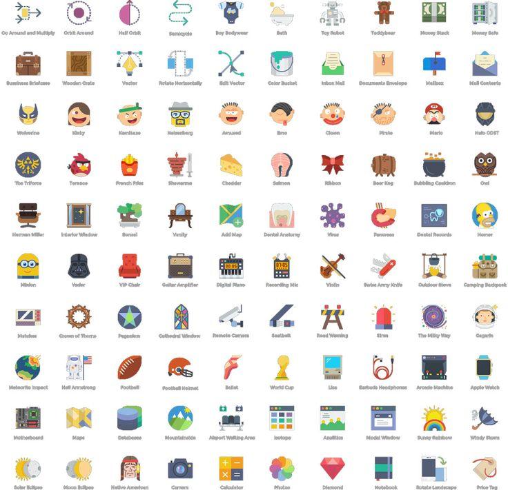 100 iconos gratuitos, muy cool y disponibles en 4 estilos