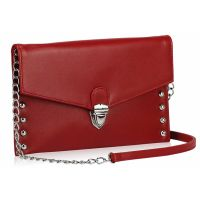 Red clutch, evening clutch, women's clutch fashion www.outfit-online.ro for more!