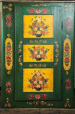 Bauernschrank Dielenschrank Landhaus Schrank Bauernmöbel Bemalt Massiv  Antik In Möbel U0026 Wohnen, Möbel, Kleiderschränke