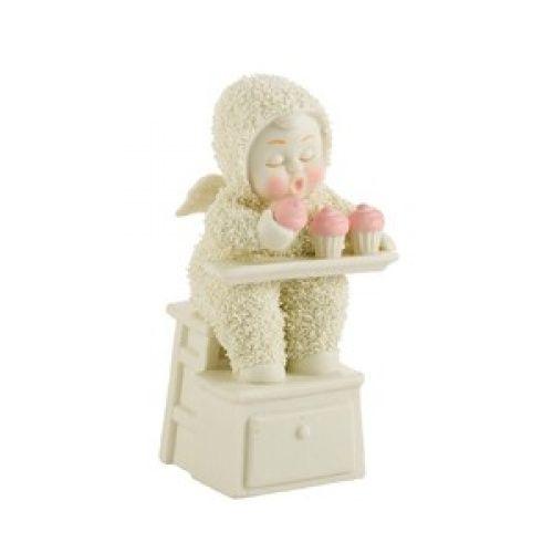 Snowbabies   Snowbabies - Zero Calorie Cupcakes Figurine - threelittlebears.co.uk