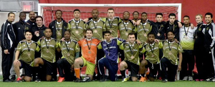 The Centennial Colts Men's Soccer team came away with a hard-earned Bronze Medal this past weekend at the 2014 OCAA Indoor Soccer Championships in Ancaster, Ontario.