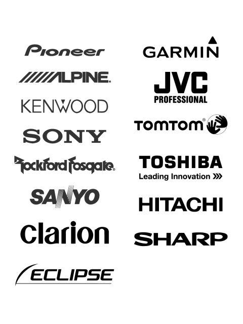 free logos vector brands pioneer  garmin  lpine  jvc