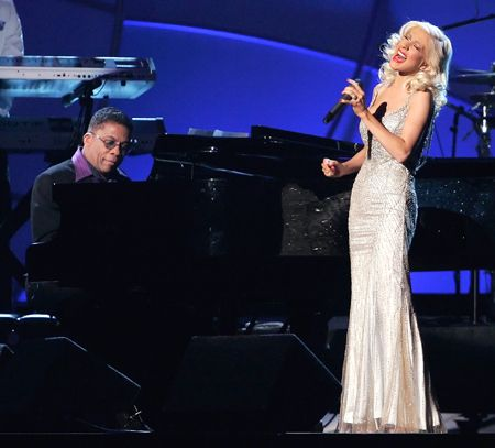 Christina Aguilera with Herbie Hancock. The most amazing performance...