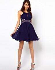 Aumentar Vestido de baile con aplicaci%C3%B3n de encaje y adornos de Little Mistress