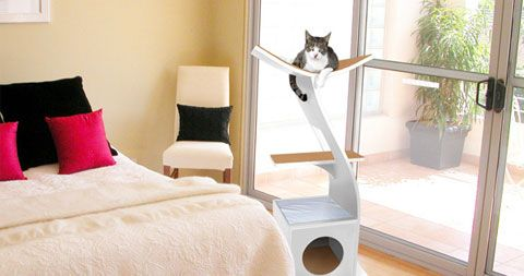 Lotus is a Zen-like tower for cats, blending symmetry, functionality, and minimalism. With its sleek organic design, this beautiful piece of cat furniture from 'The Refined Feline' will add a modern flair to your home decor. Crafted from Ply and Pine veneer, this stylish tower features strong carpeted platforms for your cats to perch on, …