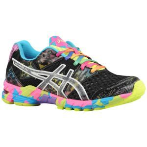 ASICS Gel - Noosa Tri 8 - Women's - Black/Onyx/Confetti, because if I must  exercise I want shoes that look like this.