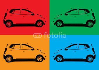 pop-art car