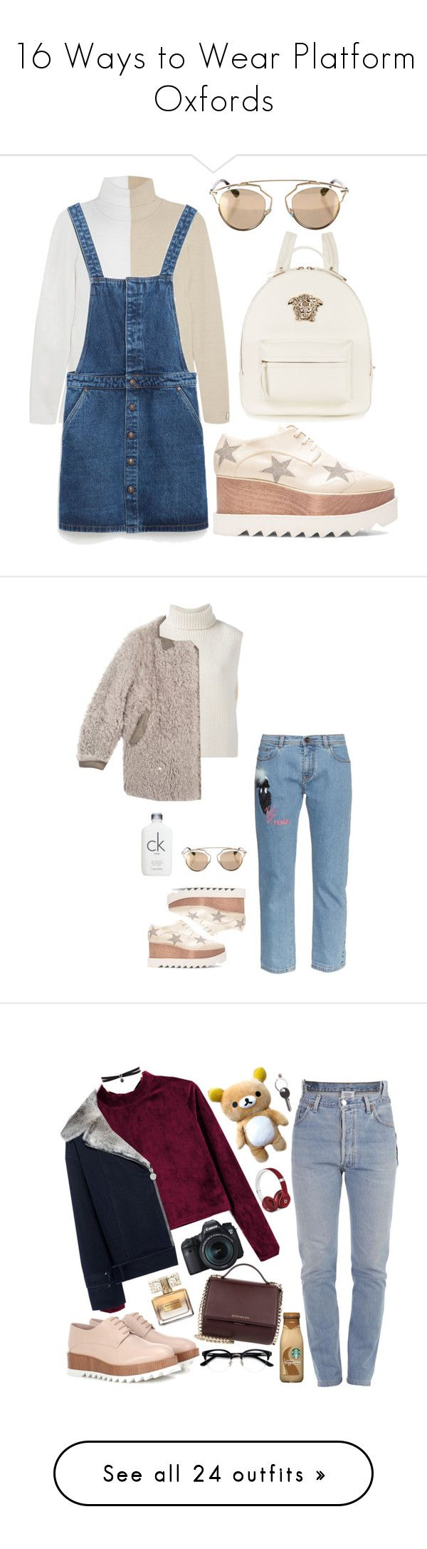 """""""16 Ways to Wear Platform Oxfords"""" by polyvore-editorial ❤ liked on Polyvore featuring platformoxfords, Fendi, Zara, Christian Dior, STELLA McCARTNEY, Versace, Étoile Isabel Marant, Calvin Klein, shoes and flats"""