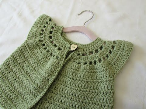 How to crochet a little girl's cute cardigan / sweater - YouTube