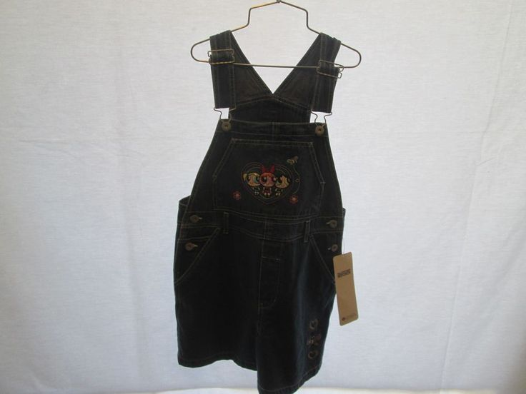 POWERPUFF GIRLS DENIM OVERALL SHORTS SIZE 10 CARTOON NETWORK FREE SHIPPING USA #CARTOONNETWORK #DENIM #Everyday