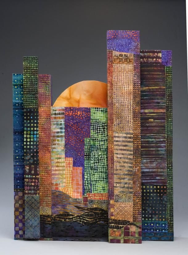 Harvest Moon Over the City