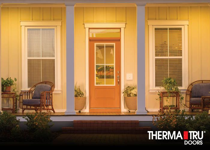 Therma Tru Smooth Star Fiberglass Door With Clear Glass