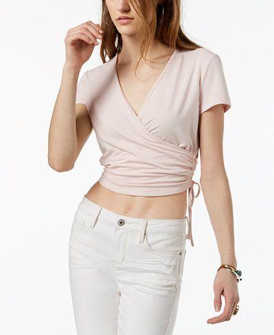 baa5d5bbeb4777 Ultra Flirt By Ikeddi Juniors' Cropped Wrap Top   Clothing   Tops ...