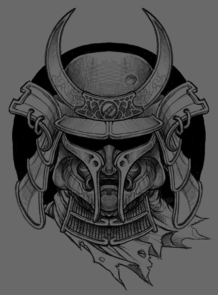 Japanese Samurai Mask Drawings | www.pixshark.com - Images ...