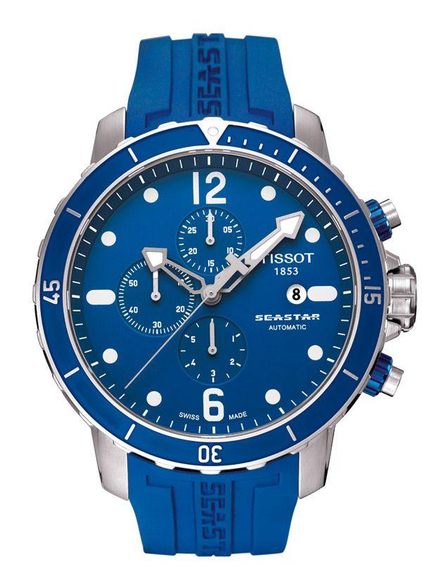Catálogo de relojes Tissot para hombre y mujer: Reloj Tissot Seastar automático ara buceo, cronómetro T066_427_17_047_00