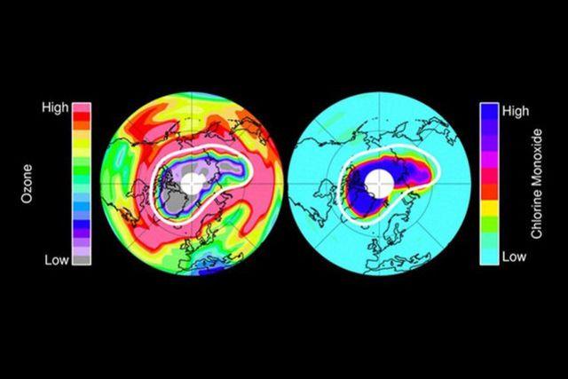 Le trou dans la couche d'ozone se résorbe