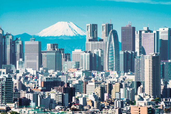 vista do skyline de tokyo
