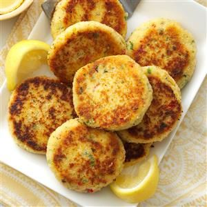 Easy Crab Cakes Recipe from Taste of Home