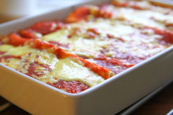 Gratinerade enchiladas med tomatsås & ost - Jennys Matblogg