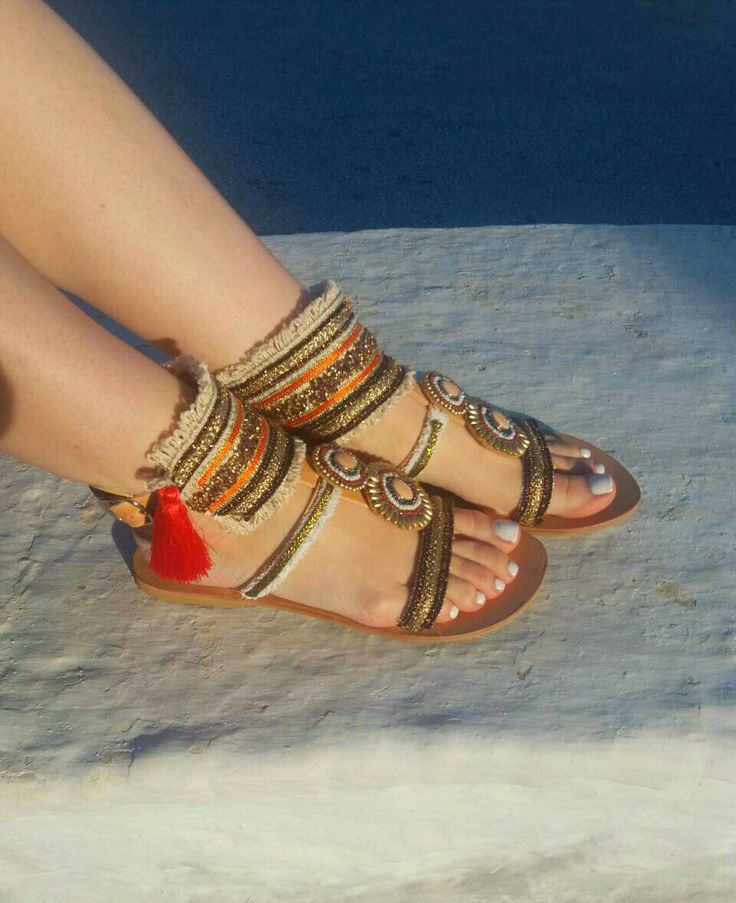 "Handmade Sandals ""Aisha"" by PenelopesTemptations on Etsy"