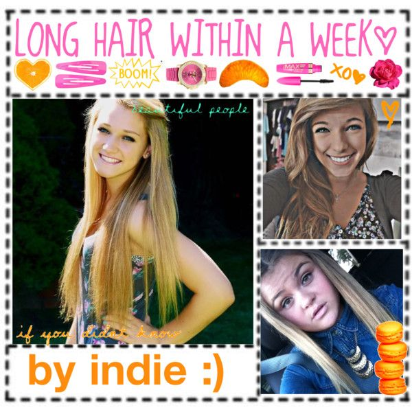 how to get longer hair within a week:) - Polyvore   I'm just curious if this really works. Maybe some boring summer days, I'll have to try it out!