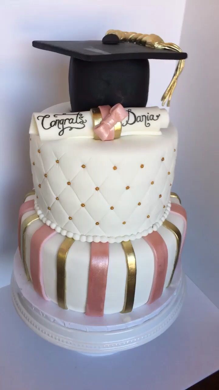 Graduation Cake Pink And Gold Graduation Party Cake Pink Graduation Cake Pink Graduation Party