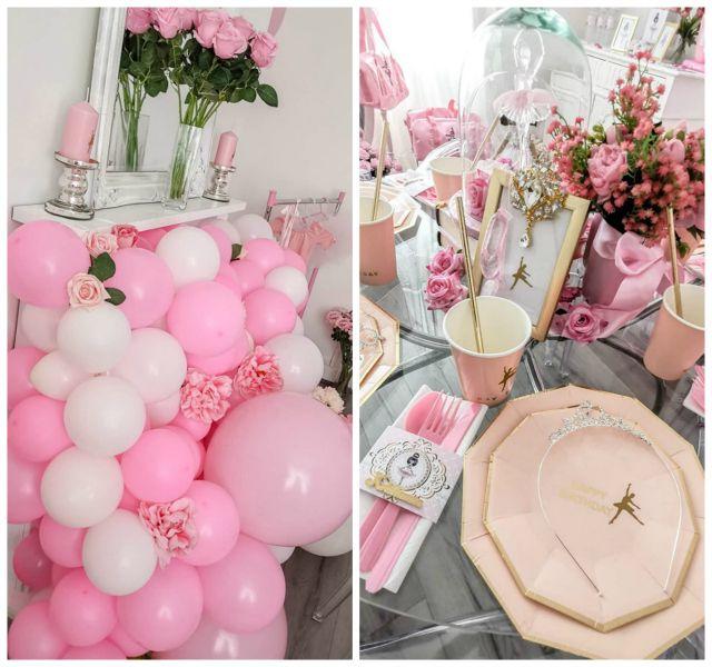 Pink Ballerina Themed Birthday Party Pretty My Party Party Ideas In 2020 Ballerina Birthday Decorations Ballerina Party Theme Ballerina Birthday Parties